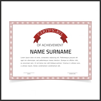 Retro certificate of achievement