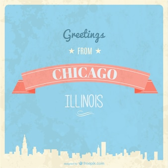 Retro chicago greeting card
