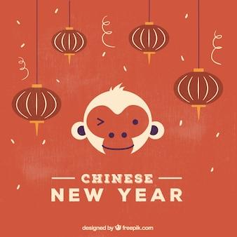 Retro chinese new year background