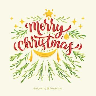 Retro christmas lettering