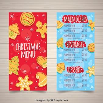 진저 쿠키와 함께 복고풍 크리스마스 메뉴