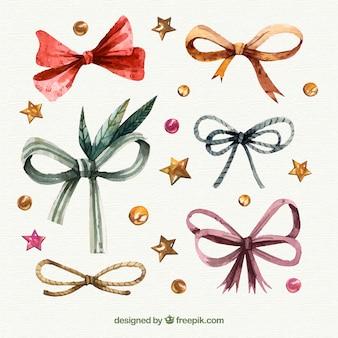 Retro christmas ribbon pack