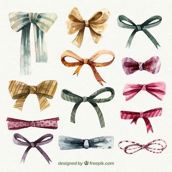 Retro christmas ribbon set