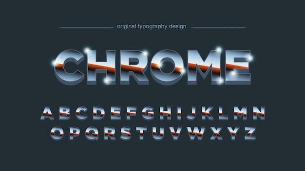 Retro chrome gradient typography