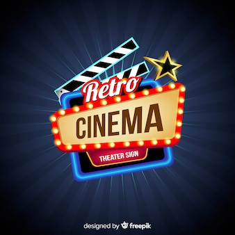 Retro Cinema Background