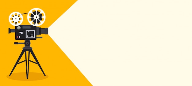 Retro cinema banner