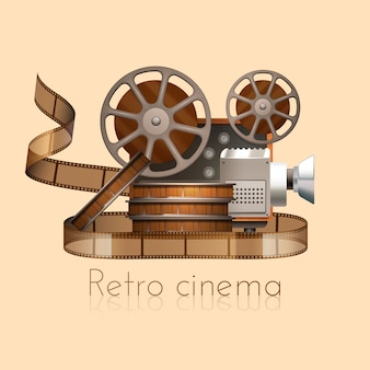 Retro cinema concept