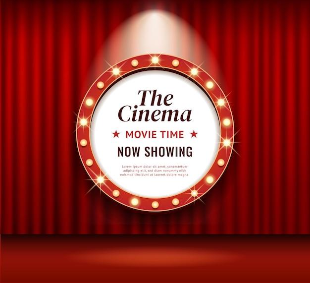 Рамка ретро кино или театра