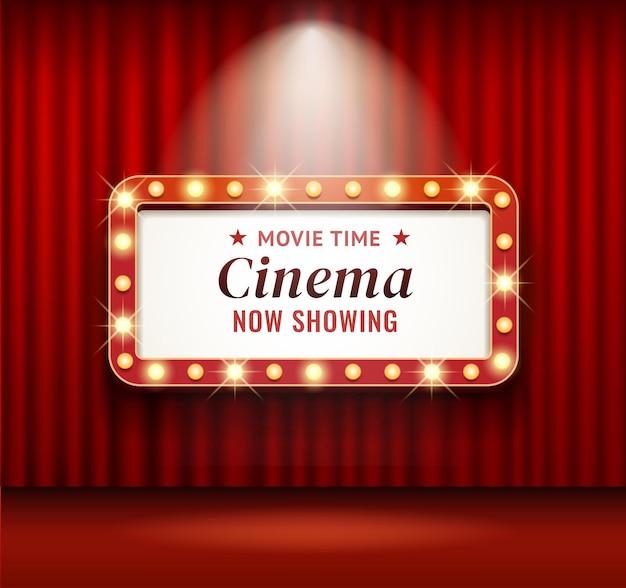 レトロな映画館や劇場のフレーム Premiumベクター