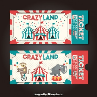 Retro circus tickets