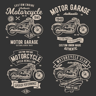 Retro classic motorcycle badge