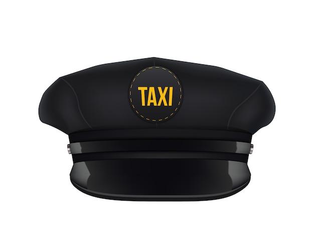 Retro classic taxi driver cap with visor.