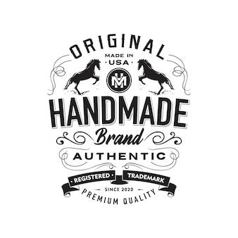 Retro clothing label template