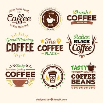 Retro coffee badges