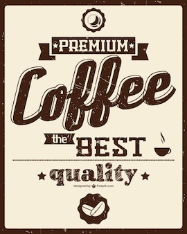 레트로 커피 포스터