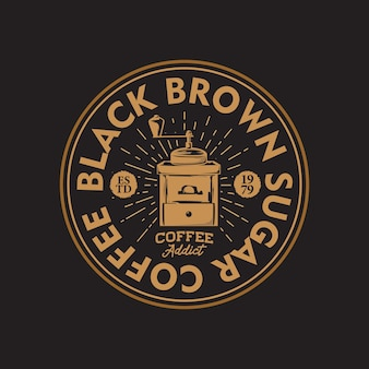 Retro coffee shop hand drawing logo