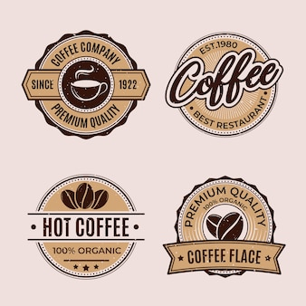 Retro coffee shop logo collection