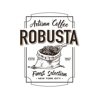 レトロなコーヒーショップのロゴのテンプレート