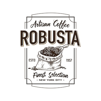 Retro coffee shop logo template