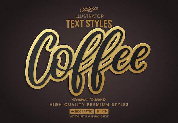 Стиль текста ретро кофе