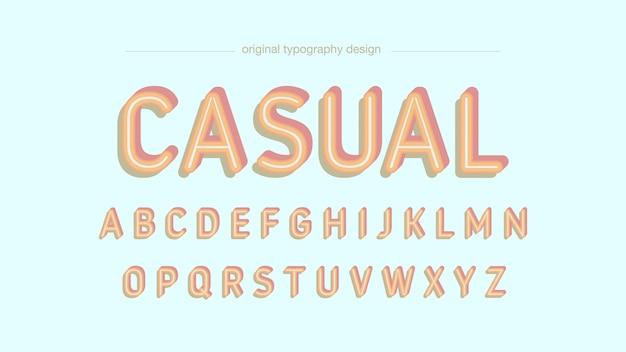 Retro colorful bold typography