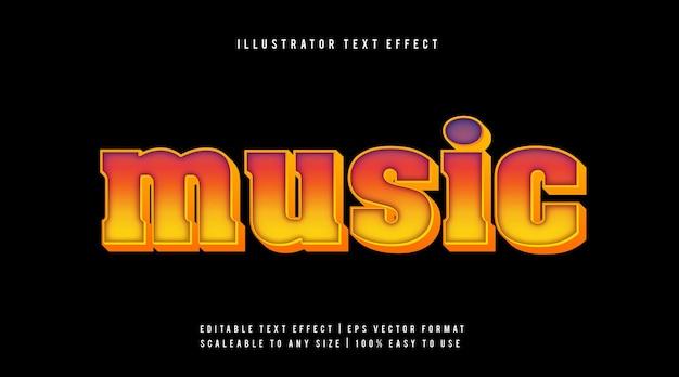 레트로 다채로운 텍스트 스타일 글꼴 효과