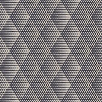 Retro colors rhombus halftone texture geometric seamless pattern