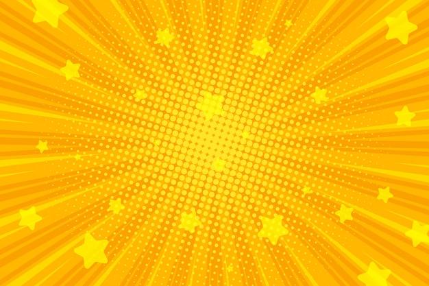 Ретро комический фон, поп-арт радиальные лучи