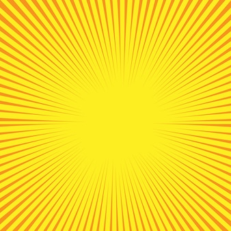 Retro comic style background with sun rays