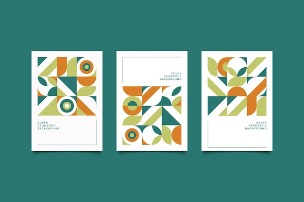 Ретро обложка геометрическая коллекция