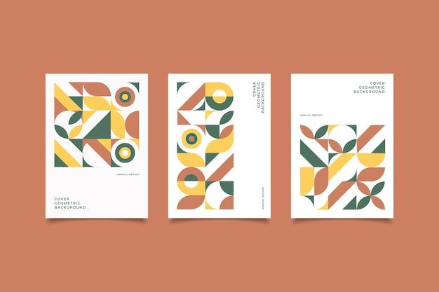 Ретро-обложка из геометрической коллекции