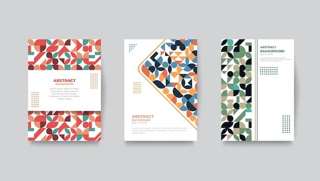 Retro cover template set geometric