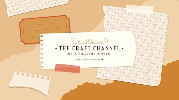 Retro craft youtube 채널 아트