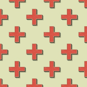 Retro crosses pattern. abstract geometric background in 80s, 90s style image. geometrical simple illustration