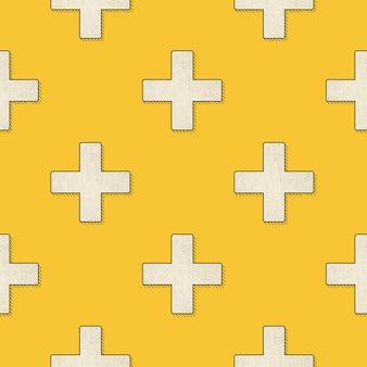 복고풍 십자가 패턴, 80년대, 90년대 스타일의 추상적 기하학적 배경. 기하학적 간단한 그림