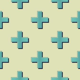 レトロなクロスパターン。 80年代、90年代スタイルの画像の抽象的な幾何学的な背景。幾何学的な簡単な図
