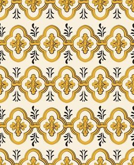 Retro damask seamless pattern