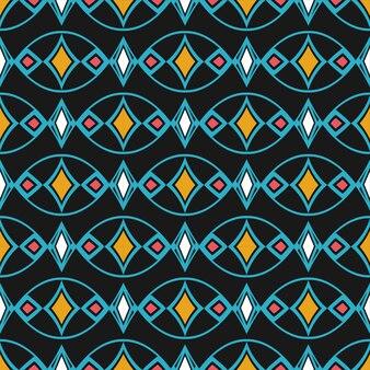 レトロなダマスク織のシームレスパターン