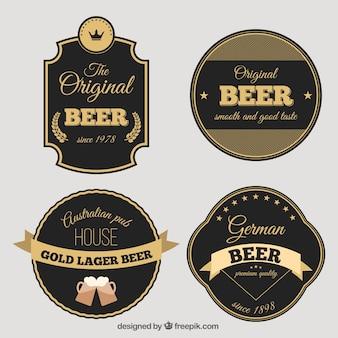 Retro decorative stickers of beer