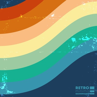 Retro design background with vintage color stripes. vector illustration.