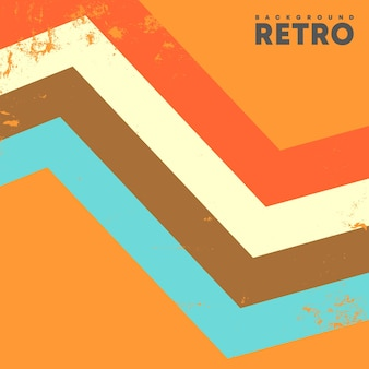 Предпосылка ретро-дизайна с винтажной текстурой grunge и цветными полосами. векторная иллюстрация.