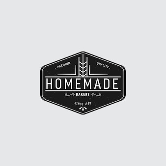 Retro design for bakery logo