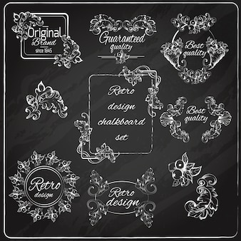 Retro design chalkboard
