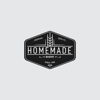 レトロなデザインのパン屋さんのロゴ