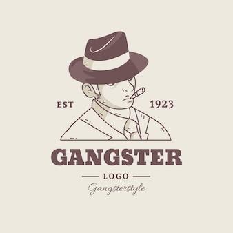Ретро дизайн логотипа гангстера