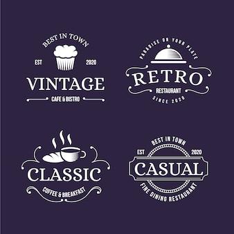 ロゴコレクションのレトロなデザイン