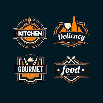 레스토랑 로고를위한 레트로 디자인