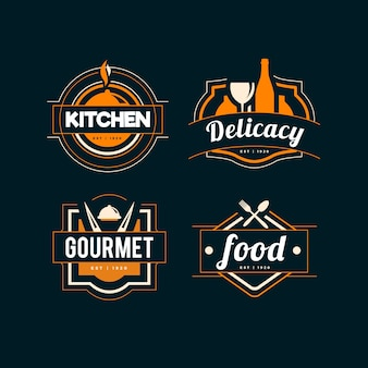 Ретро дизайн логотипа ресторана