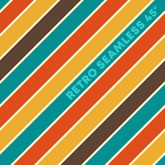 Retro design seamless background with vintage color diagonal lines. vector illustration.