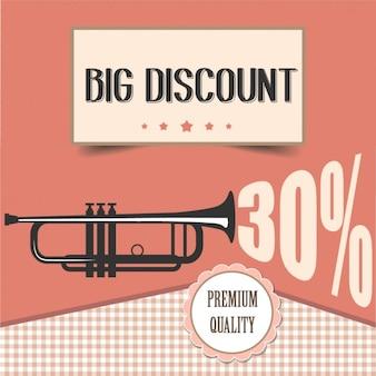 Retro discount poster